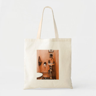 Funky Peachy Bathroom Tote Bag