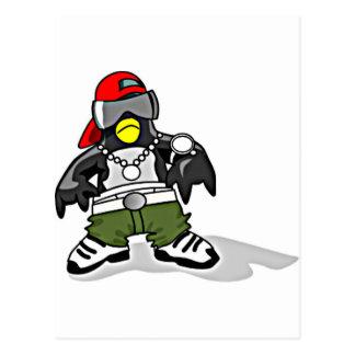 Funky Penguin Postcard