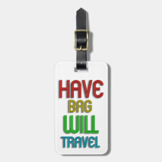 Funky Personalized Airplane Luggage Tag