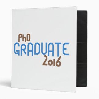 Funky PhD Graduate 2016 (Blue) Binder