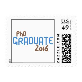 Funky PhD Graduate 2016 (Blue) Postage
