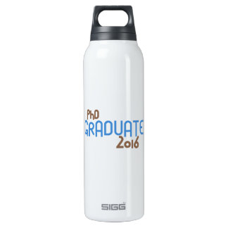 Funky PhD Graduate 2016 (Blue) Thermos Water Bottle
