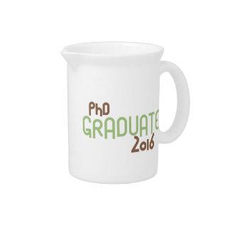 Funky PhD Graduate 2016 (Green) Drink Pitchers