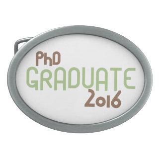 Funky PhD Graduate 2016 (Green) Oval Belt Buckle