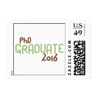 Funky PhD Graduate 2016 (Green) Postage