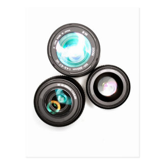 funky photography lens set postcard
