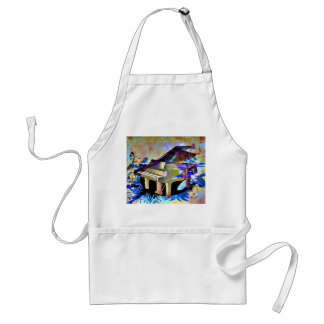 Funky Piano Adult Apron