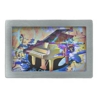 Funky Piano Belt Buckle