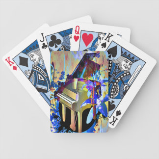 Funky Piano Bicycle Playing Cards