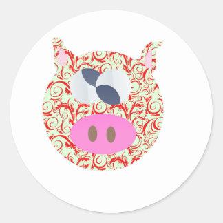 Funky Pig Classic Round Sticker