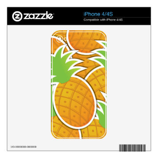Funky pineapple decal for the iPhone 4S