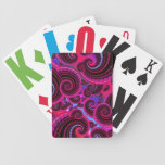 Funky Pink and Turquoise Swirl Pattern Card Deck
