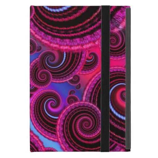Funky Pink and Turquoise Swirl Pattern Covers For iPad Mini