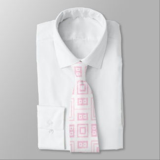 Funky Pink and White Retro Pattern Tie