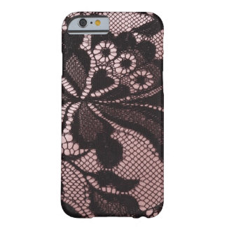 Funky Pink & Black Lace iPhone 6 case