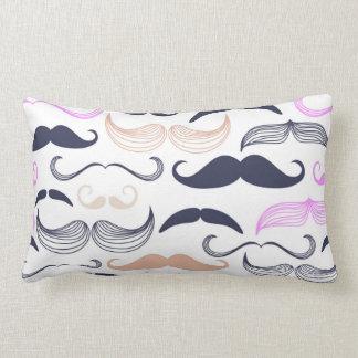 Funky Pink & Black Mustache Design Throw Pillows
