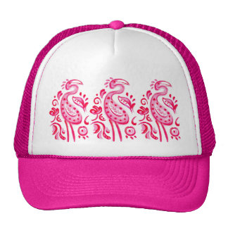 Funky Pink Flamigo Paisley Pattern Hat
