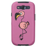 Funky Pink Flamingo Art Design Galaxy S3 Cases