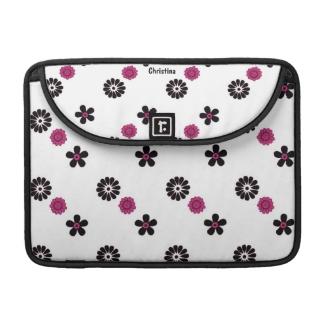 Funky Pink Floral Macbook Pro Sleeve