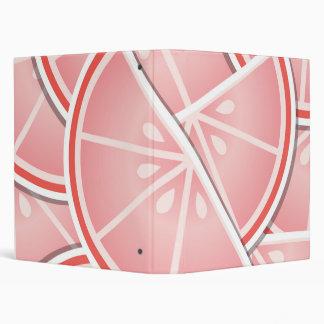 Funky pink grapefruit wedges 3 ring binder