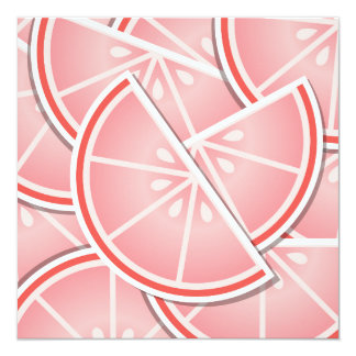 Funky pink grapefruit wedges card