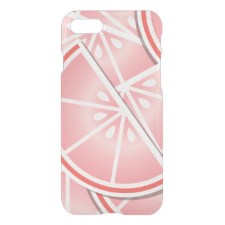 Funky pink grapefruit wedges iPhone 8/7 case