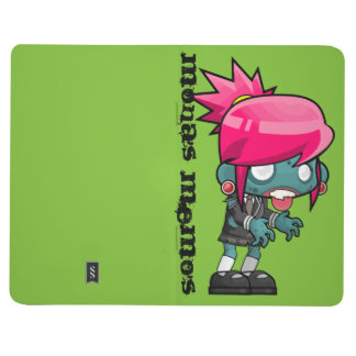Funky Pink haired Zombie Girl Ghoul Journal