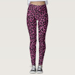 "Funky Pink Leopard Print Leggings<br><div class=""desc"">Stylish Funky Pink Leopard Print Leggings - Casual Wear</div>"