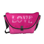 Funky Pink LOVE Bag Commuter Bags