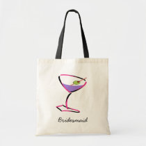 funky pink martini tote bag
