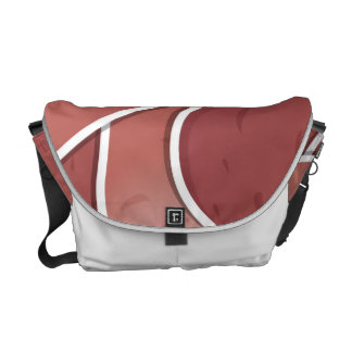Funky pink potato courier bag