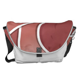 Funky pink potato messenger bag