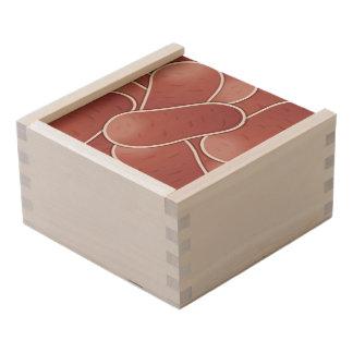 Funky pink potato wooden keepsake box
