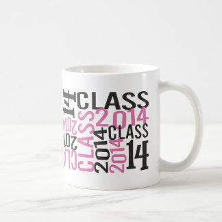Funky PINK Senior Class 2014 Coffee Mugs