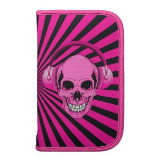 Funky Pink Skull with Headphones Planner