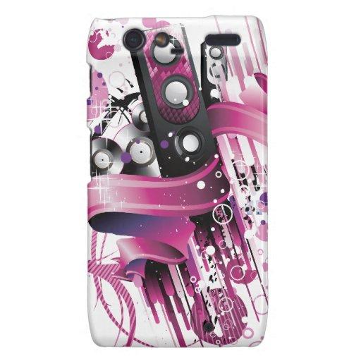 Funky Pink Speaker Motorola Droid RAZR Cover