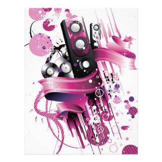Funky Pink Speaker Letterhead