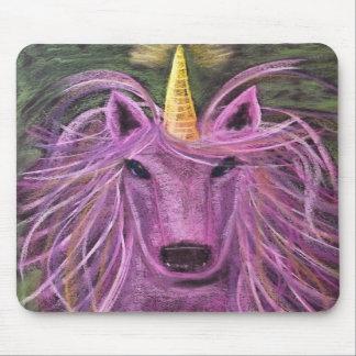 Funky Pink Unicorn Mouse Pad