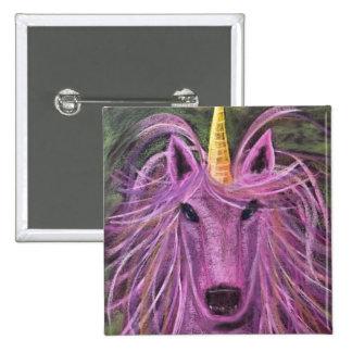 Funky Pink unicorn Pinback Button