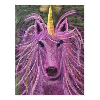 Funky Pink unicorn Post Card