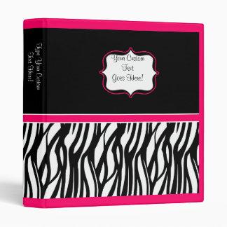 Funky Pink Zebra Binder
