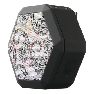 Funky Pinwheel Paisley Design Black Bluetooth Speaker