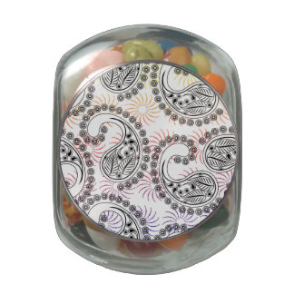 Funky Pinwheel Paisley Design Jelly Belly Candy Jar