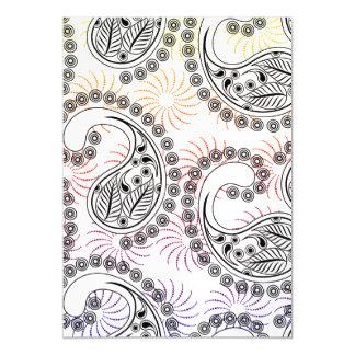 Funky Pinwheel Paisley Design Magnetic Card