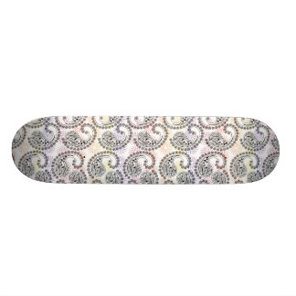 Funky Pinwheel Paisley Design Skateboard Deck