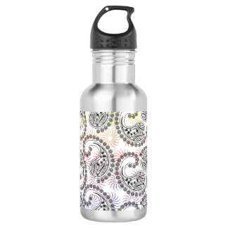 Funky Pinwheel Paisley Design Stainless Steel Water Bottle
