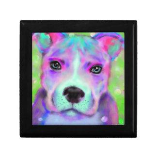 Funky Pitbull Art Gift Box