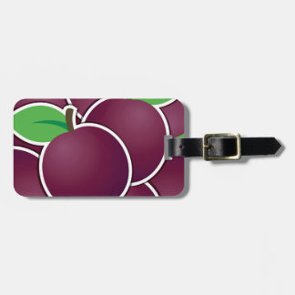 Funky plum luggage tag