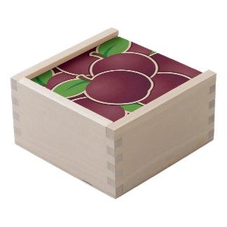 Funky plum wooden keepsake box