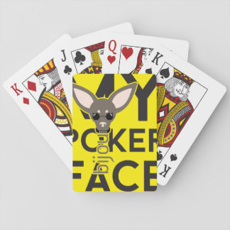 "Funky poker face ""Bijou"" playing cards"